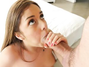 Teen Explores Her Cunt Before He Pushes Inside It