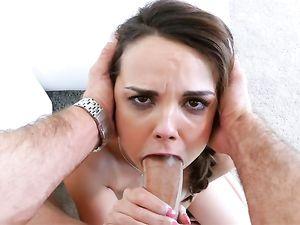 Dick Sucking Babe Dillion Harper Makes Him Cum