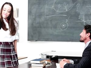 Schoolgirl Screwed By The Teacher And Loving It