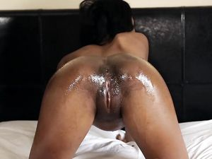 Black Teen Impales Her Pussy On A Big White Dick