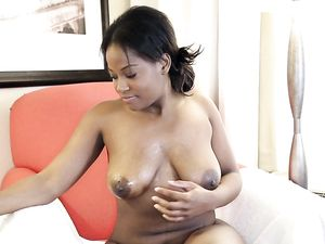Curvy Young Black Girl With A Bald Cunt Gets Laid