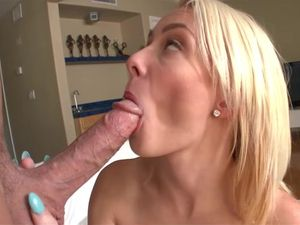 Cute Cock Eater Climbs Aboard And Rides The Dude