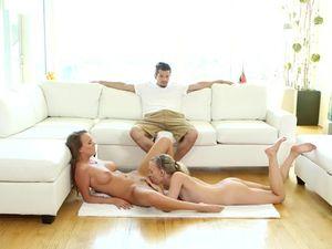 Lesbian Bikini Massage Before A Breathtaking Threesome