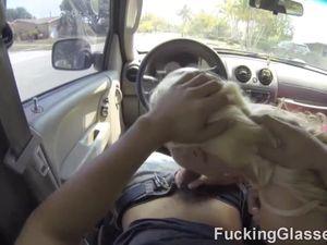 Bleach Blonde Slut Joins Him For POV Fucking