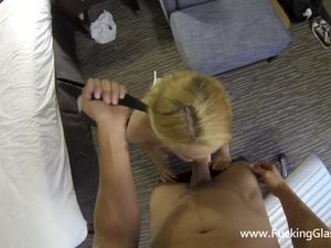 Choking And Fucking A Petite Blonde Hooker