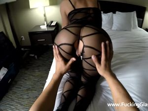Tight Miniskirt Babe Is Ready For Hotel Sex