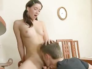 Pigtails Teen Getting A Cumshot After Fucking