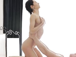 Busty Masseuse Riding A Long Cock And Getting A Cumshot