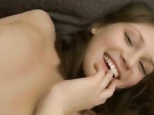 Brunette Teen Solo Masturbating In Her Bed