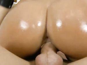Brunette Teen Sucking And Riding A Big Dong