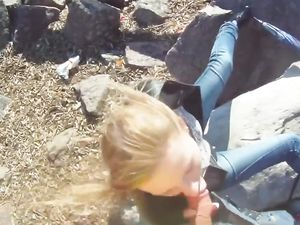 Blonde Teen Outdoor Blowjob And Doggy Style