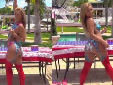 Body Painted Babe Sucking And Fucking Outdoors