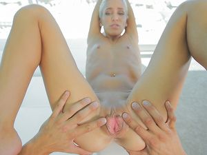 Blonde Angel Having Fun With A Large Long Cock