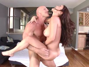 Busty Brunette Teen Fucks And Gets A Hot Facial