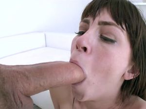 Amazing Skinny Brunette Teen Getting Cum In Mouth