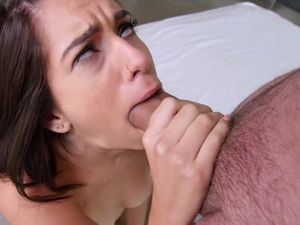 Petite Brunette Getting A Hot Facial After Fucking