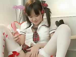 Cutest Asian Teen Ever Dresses As A Schoolgirl