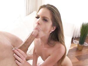 Brunette Teen Riding Cock After Sucking it