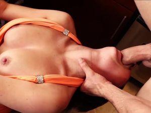 Hottie In A Slutty Dress Makes A Big Dick Cum