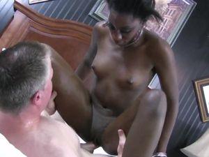 Taste Of White Cum For A Horny Black Amateur
