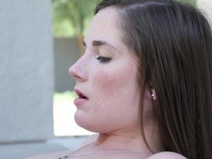 Young Freckled Bikini Girl Needs Big Cock Sex