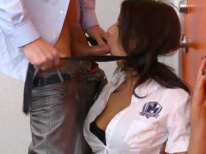 Bad Teacher Fills Her Schoolgirl Pussy Roughly