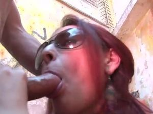 Curvaceous Latina Redhead Fucks In A Condemned Building