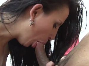 Leggy Latina On Top Riding Cock With Her Bald Cunt