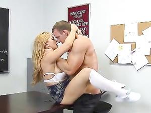 Athletic Schoolgirl Shows Her Teacher A Good Time