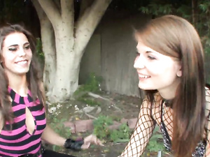 Hot Slut In A Fishnet Top Fucks Her Stepsister