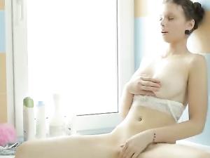 Perky And Perfect Teenage Tits On A Masturbating Girl
