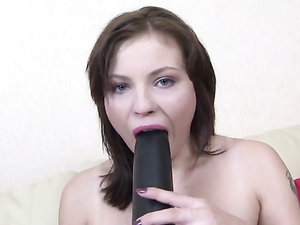 Naughty 19 Year Old Loves Fucking Her Big Dildos